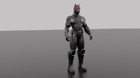 BATMAN - No Cape (Low Poly)