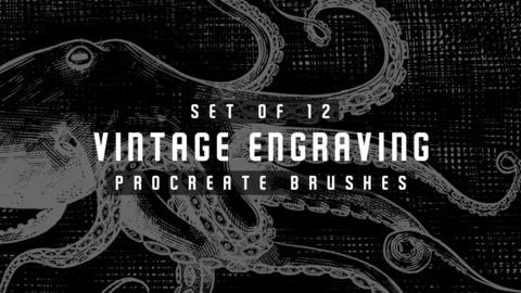Vintage Engraving Procreate Brushes