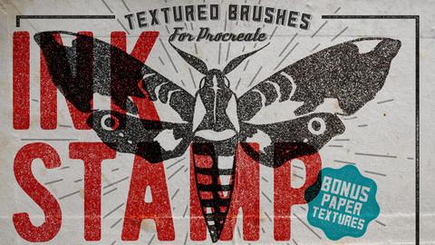 Ink Stamp Procreate Brushes