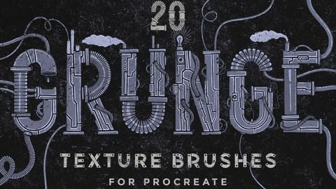 Grunge Texture Procreate Brushes