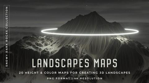 Set of 20 Landscapes Maps