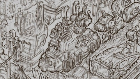 CC GPU: Krita City Sketch
