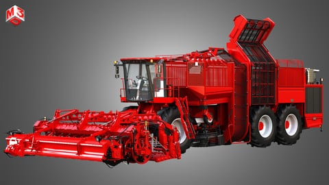 Terra Dos T4 Sugar Beet Harvester 3D model