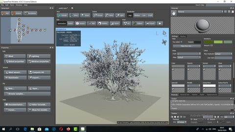 132 Min Tutorial SpeedTree (Software Introduction)