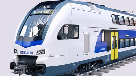 Stadler KISS Double Deck Train 3D model