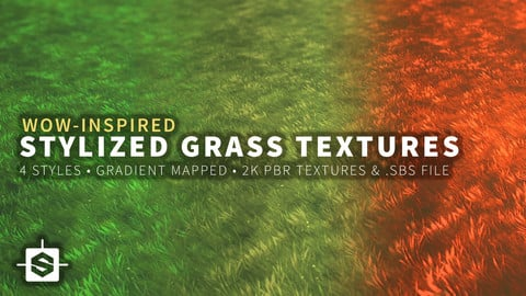 WoW-Inspired Stylized Grass Texture - Substance Designer Files & 2k Maps
