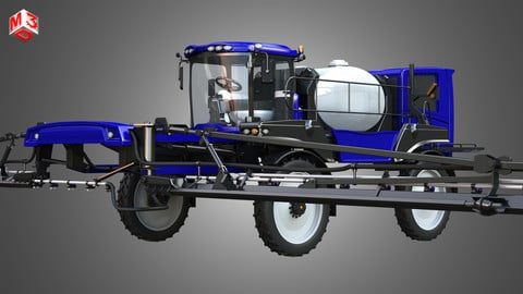 Self-propelled Front Boom Sprayer 3D model