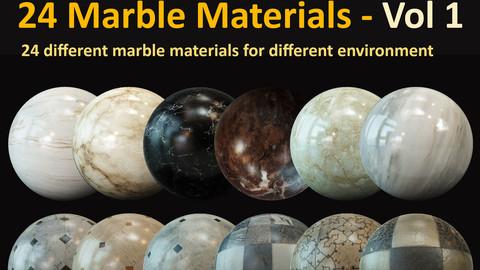24 Marble Materials - Vol 1