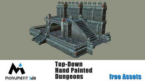 Top-Down Hand Painted Dungeons