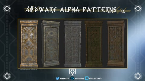 40 Dwarf Alpha Patterns - 4k