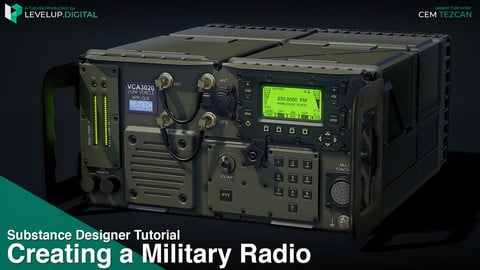 Creating a Military Radio in Substance Designer | Cem Tezcan