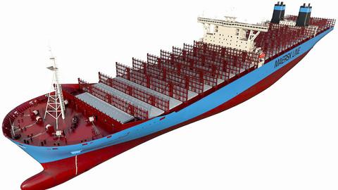 Maersk Triple E 1st generation 399m 3D model