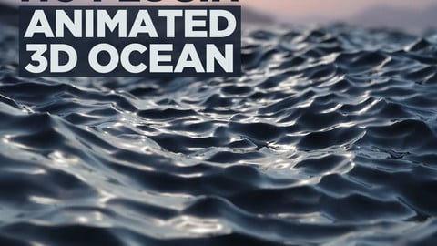 No plugin animated 3d ocean 3D model