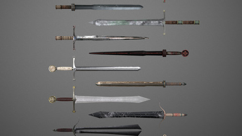 Fantasy Swords - 11 Pack - Set 001