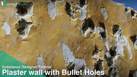 Plaster Wall with Parameter-driven Bullet Holes | Daniel Thiger