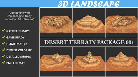 Terrain Maps - 06 Desert Terrain Package 001 8K