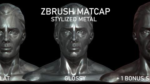 Zbrush MatCaps - Metal Matcap - Mix Pack Stylized