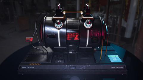 Cyberpunk Sci-Fi fuel station / Tank