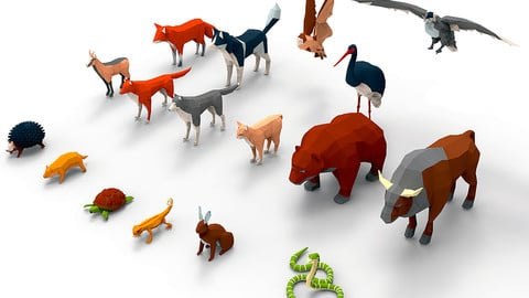 Animals lowpoly