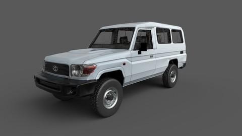 Low Poly Car: Toyota Land Cruiser Wagon 2010