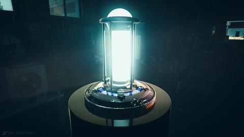 Cyberpunk sci-fi force field generator / Hi-tech Lamp