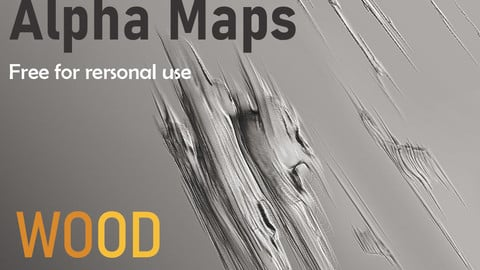 Wood damage (Three Alpha maps) for Zbrush, Substance etc.