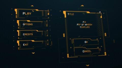 FUI / UI - Sci-fi Game Menu / Buttons template
