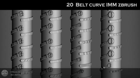 20 Belt IMM Curve Zbrush Brushes