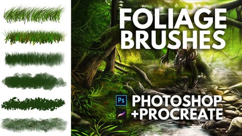 Foliage Brushes for Photoshop