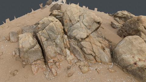 Photoscan_Beach Rock_0019_only HighPoly Mesh (16K Texture)
