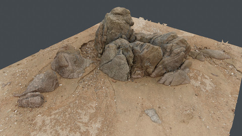 Photoscan_Beach Rock_0026_only HighPoly Mesh (16K Texture)