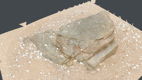 Photoscan_Beach Rock_0027_only HighPoly Mesh (16K Texture)