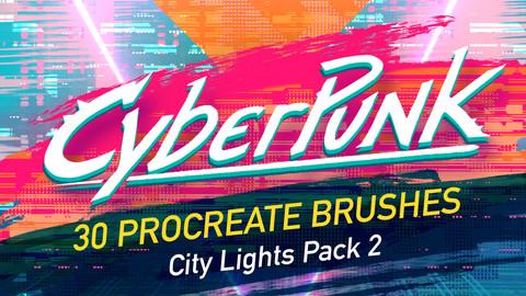 30 more CyberPunk Procreate Brushes! - Pack 2