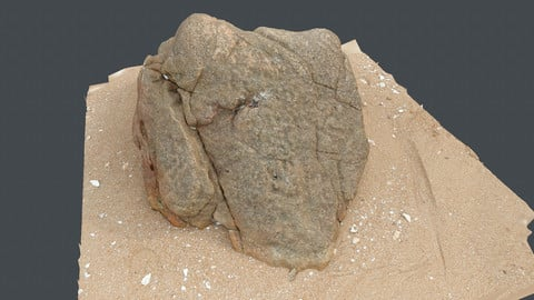 Photoscan_Beach Rock_0028_only HighPoly Mesh (16K Texture)