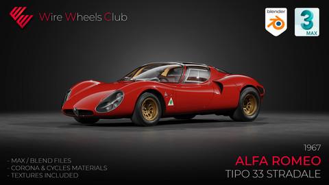 1967 Alfa Romeo Tipo 33 Stradale - 3D Model