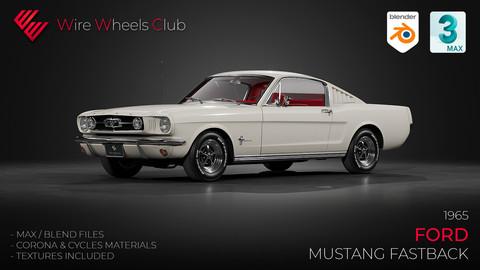 1965 Ford Mustang Fastback - 3D Model
