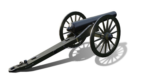 3-inch ordnance rifle (cannon), model 1861 GameReady 3d model.