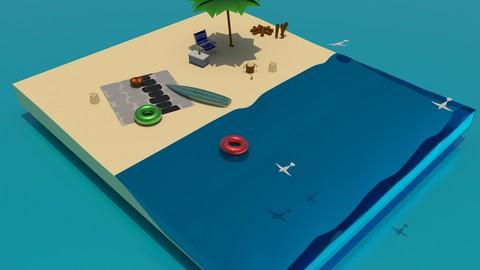 isometric beach