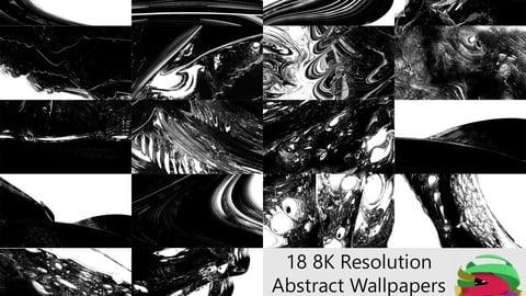 8K Black and White Abstract Wallpaper Pack