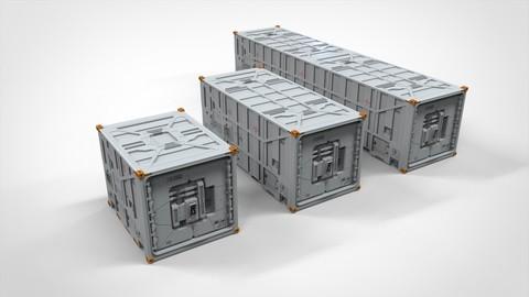 sci fi Cargo Container 1