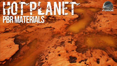 Hot Planet PBR Materials