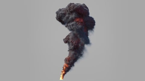 Large Scale Smoke and Fire Animation - 1080p