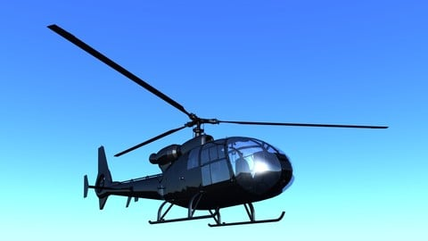 3D model Airbus Helicopter H130