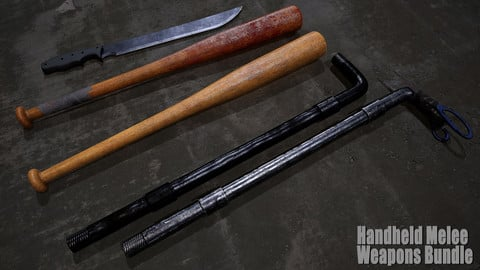 Handheld Melee Weapons Bundle