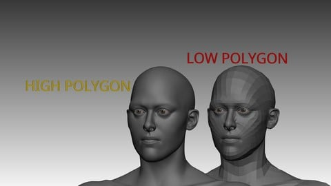 Female base mesh - Include low polygon and high polygon
