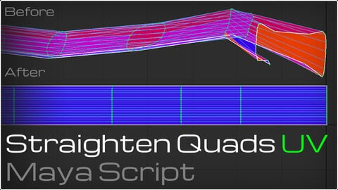 Straighten Quads UV | Maya Script