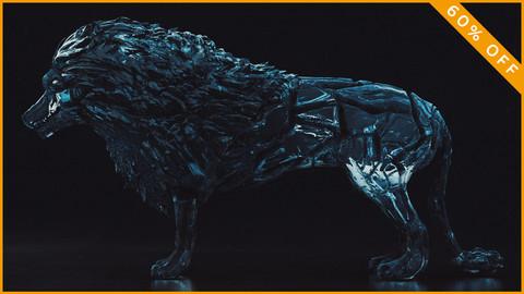 Ice Wolf 3D Model
