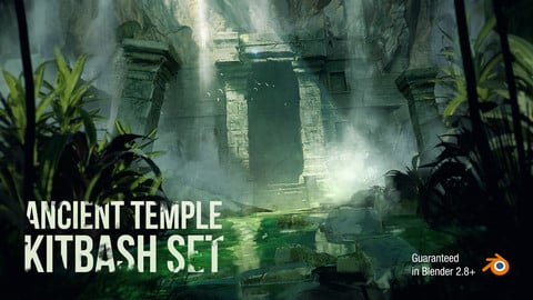 Ancient Temple KitBash Set For Concept Art