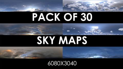 Pack os 30 HDRI Sky Maps