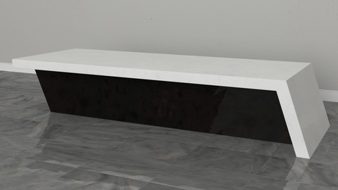 White Top Marble Counter